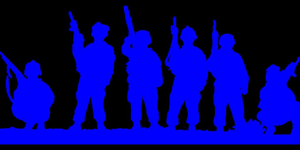 百戦錬磨の兵隊